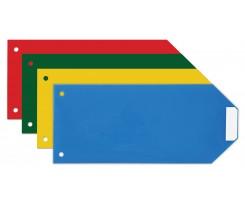 Роздільник аркушів Economix 240х105мм 100 шт пластик кольоровий (E30810)
