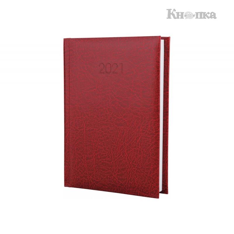 Щоденник датований 2021 Economix SAHARA, А6, 352 сторінки, темно-червоний (E21646-03)