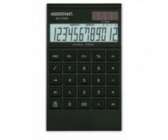 Калькулятор Assistant 183х107х15 мм 12 розрядів чорний (AC-2326 (black/silver))