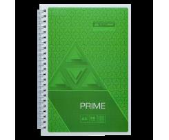 Зошит Buromax PRIME, на пружині, А5, 96 аркушів, клітка, салатовий (BM.24551101-15)