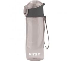 Пляшечка для води Kite пластикова, 530 мл, сіра (k18-400-03)