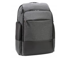 Рюкзак діловий Optima 45x34x18 см 26-35 л сірий (851-014518)