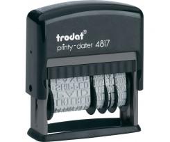 Датер Trodat з 12-ю бухгалтерськими термінами шрифт 3.8 мм пластиковий чорний (4817)