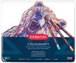 Набір кольорових олівців  Derwent Coloursoft, 24шт., (701027)