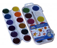"""Акварель Гама Н, """"Захоплення"""", 24 кольори, без пензлика, пластик.упак. (312060)"""