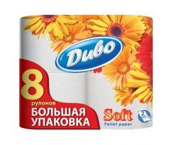 """Папір туалетний целюлозний """"Диво"""" Soft, по 8 рулонів, на гільзі, 2-х шаровий, білий(тп.дв8б)"""