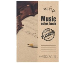 Альбом для нот Smiltainis Platinum, Music notes book А5, 16 аркушів, 100г/м2, (5NS-16(100)