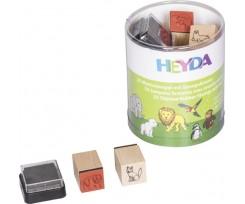 Набір штампів гумових Heyda Звірі 15 шт (204888491)