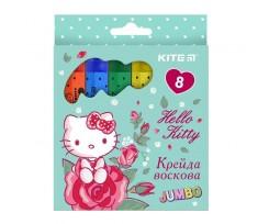 Крейда Kite Hello Kitty, воскова, 8 кольорів (HK19-076)
