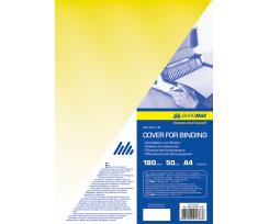 Обкладинка BUROMAX А4, 50 штук, ПВХ, жовтий (BM.0560-08)