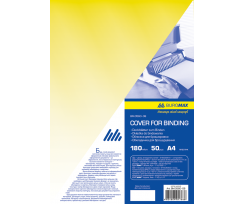 Обкладинка Buromax А4 180 мкм 50 штук жовтий (BM.0560-08)