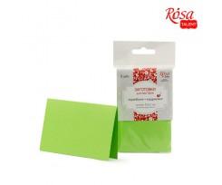 Набір заготовок для листівок ROSA TALENT 5 шт 103х70 мм №3 салатовий 220 г/м2 (94099002)