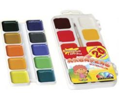 """Акварель Гама Н, """"Захоплення"""", 20 кольорів, без пензлика, пластик.упак. (91706)"""