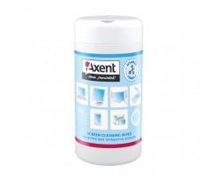 Серветки Axent для екранів вологі 100 штук (5302-a)