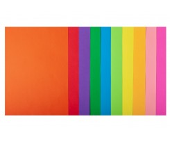 Набір кольорового паперу Buromax Neon+Intensiv А4 10 кольорів 50 аркушів (BM.2721850-99)