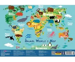 Килимок Cool For School Cool For School Animal World's Map 27х38.5 см (CF61480-05)