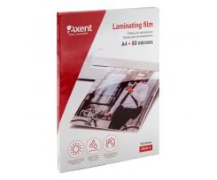 Плівка для ламінування Axent A4 216x303 мм 80 мкм 100 штук (2020-A)