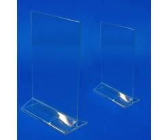 Табличка інформаційна A5 145х209 мм пластикова прозора (2000999069406)