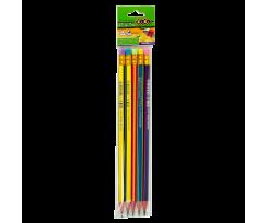 Набір чорнографітних олівців Zibi з гумкою 2 мм 5 штук (ZB.2320-5)
