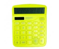 Калькулятор Assistant 103х138 мм 12 розрядів жовтий (AC-2312 yellow)