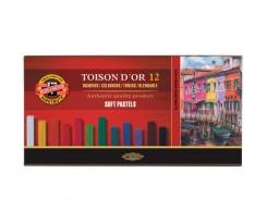 Крейда-пастель Koh-i-Noor Toison D'or 12 кольорів асорті (8582012001ks)
