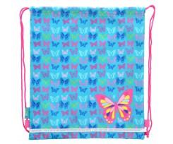 Сумка для взуття 1Вересня  Butterfly blue, 40*35см (555358)