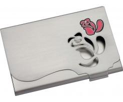Візитниця Rose металева з мозаїкою в подарунковій упаковці (O51639)