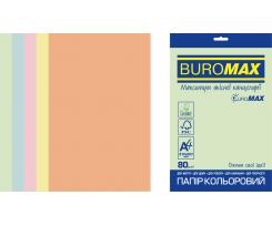 Набір кольорового паперу Buromax Pastel А4 250 аркушів асорті (BM.27212250E-99)