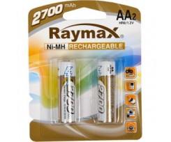 Акумулятор Raymax HR6 1.2V 2700mAh Ni-MH AA 2шт. (*63064)