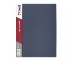 Дисплей-книга Axent 20 файлів, А4, РР, сіра (1020-03-a)