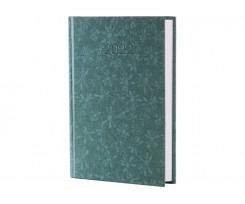 Щоденник датований 2021 Economix КВІТИ А6 352 сторінки зелений (E21637-04)