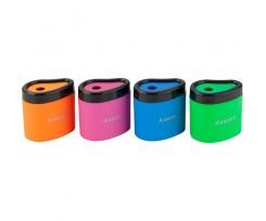Точилка Axent Neon soft з контейнером асорті (1158-A)