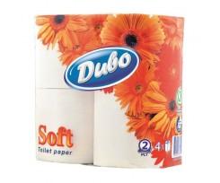 """Папір туалетний целюлозний """"Диво"""" Soft, по 4 рулони, на гільзі, 2-х шаровий, білий(тп.дв4б)"""