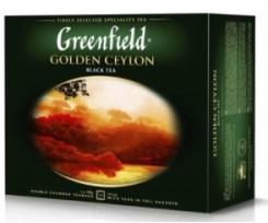 Чай Greenfield Golden Ceylon чорний 2 г 50 штук пакетований (gf.106203)
