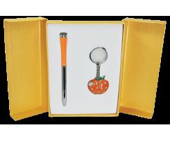 Набір подарунковий Langres Apple ручка кулькова+брелок помаранчевий (LS.122024-11)