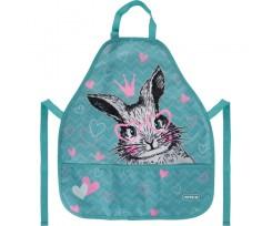 Фартуx з нарукавниками Kite Cute Bunny 55x47 см бірюзовий (K21-161-3)