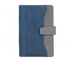 Бізнес-організатор Optima, магнітна застібка, 80л.,130*190 мм, 80 г/м2, синьо-сірий (O27175-02)