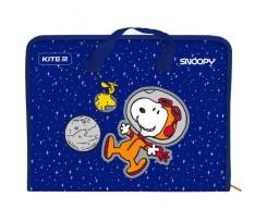 Папка-портфель Kite Peanuts Snoopy на блискавці А4 синя (SN21-202)