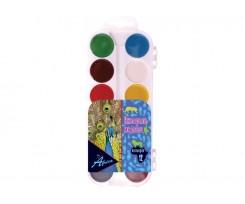 Акварель медова Economix AFRICA sky, 12 кольорів, б/пензлика, пластик (E60300)