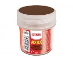 Акрил Maxi для декору 20 мл коричневий (MX60179-07)