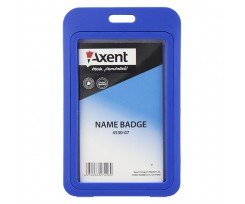Бейдж вертикальний Axent 70x110 мм PVC синій (4530-07-A)