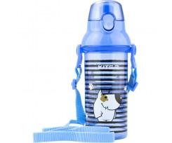 Пляшечка для води Kite пластикова, 470 мл, блакитна (k18-403-04)