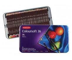 Набір кольорових олівців Derwent Coloursoft, 36шт., (701028)