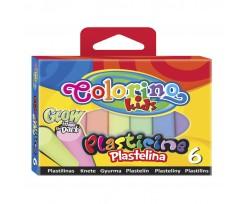 """Пластилін Colorino """"Світиться в темряві"""", 100 г, 6 кольорів (42680PTR)"""