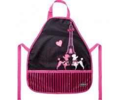 Фартуx з нарукавниками Kite Weekend in Paris 55x47 см рожево-чорний (K21-161-2)