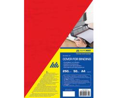 Обкладинка BUROMAX А4, 50 штук, картон, червоний (BM.0580-05)