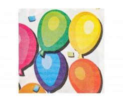 Набір двошарових серветок Maxi Ballons 33х33 см 20 штук білі (MX44655)