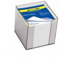 Бокс Buromax з білим папером 90х90х90 мм 1000 аркушів прозорий (BM.2290-03)