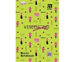 Зошит для нот Kite VIS-1, А4, 20 акушів (VIS19-404-1)