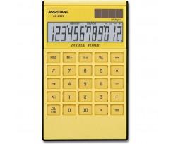 Калькулятор Assistant 183х107х15 мм 12 розрядів жовтий (AC-2326 (yellow))
